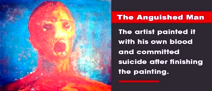 Anguished Man a cursed paintings